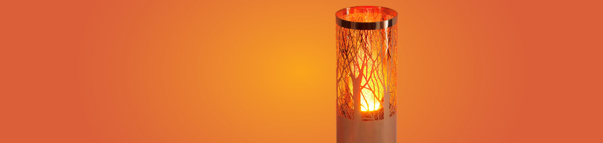 Flamelights - We have over 50 different styles of Silk Flamelight in a diverse range of materials such as rattan, steel, bamboo, terracotta and leather.#View Range
