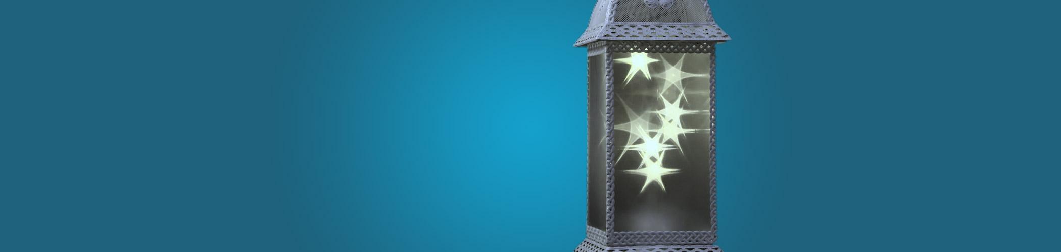 Turning Ice Lanterns - Our Turning Ice Lanterns rotate, creating a wonderful lighting effect. We have two ranges, the pyramid and ice lanterns.#View Range
