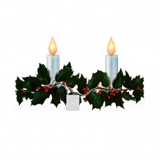 Holly Branch Candlesticker