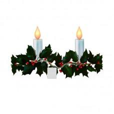 Holly Branch Candlesticker