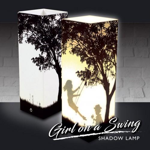 Girl on a Swing Shadow Lamp