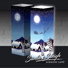 Santa's Here Shadow Lamp