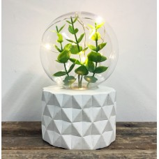 Plant Lamp - Leaf Bulb - Facet Base