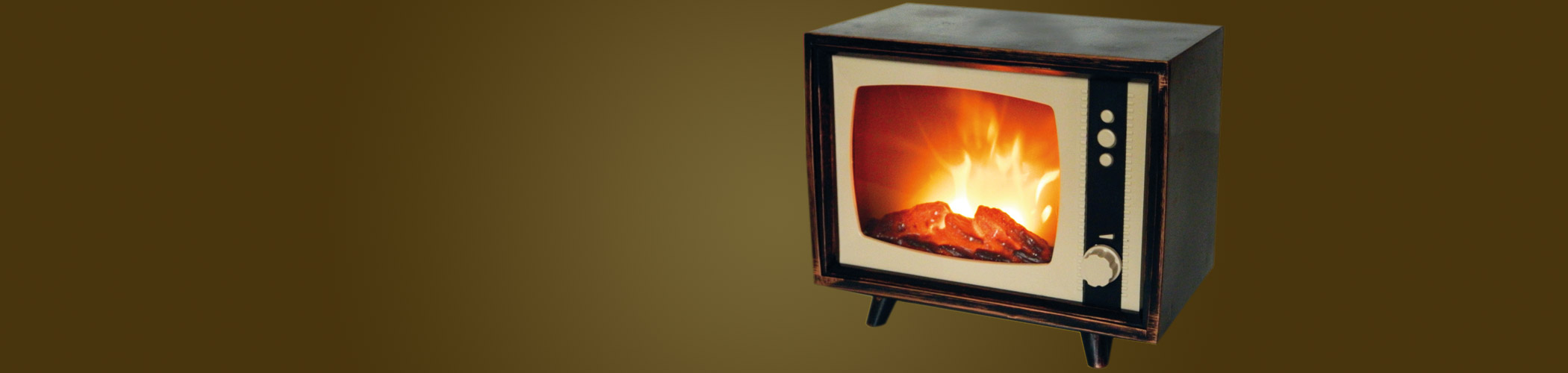 TV Fires - flat screen TV and Retro TV fires.#View Range