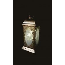 Battery Star Lantern Moroccan - Bronze