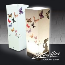 Girl Blowing Butterflies Shadow Lamp