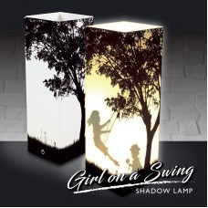 Girl on a Swing Shadow Lamp